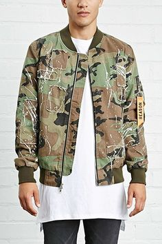 Reason Camo Bomber Jacket