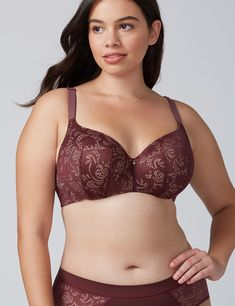 70632c0263aba Fashion Bug Women s Invisible Backsmoother Lightly Lined Balconette Bra 36D  Sassafras. Plus Size ...