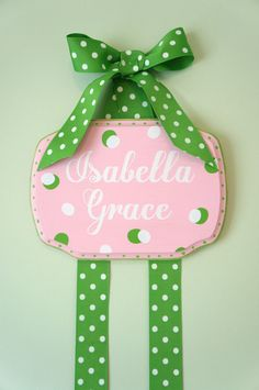 Hand Painted and Personalized Hair Bow Holder