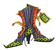 HALLOWEEN witches shoes