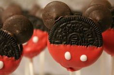 mickey and minnie mouse cookie pops , birthday , party , kids. $25.00, via Etsy.