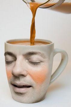 Superb Cool Coffee Mug Picture Kinda Creepy! Café Chocolate, Coffee Art, I Love