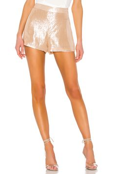 Find The Tasha Short CAMI NYC online. Shop the latest collection of The Tasha Short CAMI NYC from the popular stores - all in one Pop Fashion, Fashion Models, Nyc, Rebecca James, Sequin Mini Skirts, Casual Skirt Outfits, Staple Pieces, Lace Shorts, Dressy Shorts