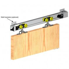 Herkules 60 - Sliding Door Gear System For Single Timber Doors Up to 60kg In Weight £58.60