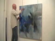 Création d'une peinture abstraite - 13-11-02 par Raymond Attanasio - YouTube