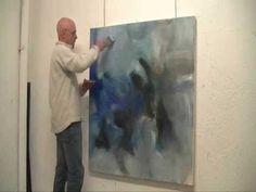 Création d'une peinture abstraite - 13-11-02 par Raymond Attanasio