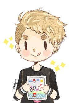 Adorable fanart of Kris from EXO - I'm going to start drawing like this :D
