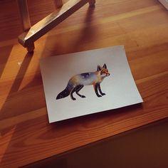 http://www.noregretsstudios.co.uk/watercolour-like-tattoos-by-sasha-unisex/ Fox Flash By Sasha Unisex