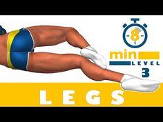 Тренировка ног за 8 минут - Третий уровень - YouTube