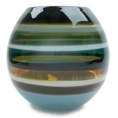 Caleb Siemon hand blown glass Stone Barrel Vase, available at Cabana Home Santa Barbara