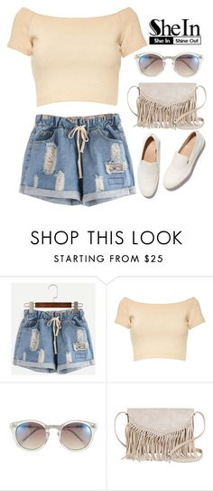 """SheIn"" by hungry-unicorn ❤ liked on Polyvore featuring Alice + Olivia, Vince Camuto, FEIT and TWIG & ARROW"