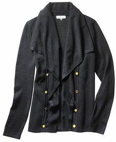 Calvin Klein Long-Sleeve Button Cardigan