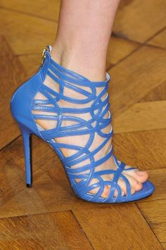 5f7e0bd5badc sky blue caged bootie type sandals that styled few of the enchanted  garments at Zuhair Murad