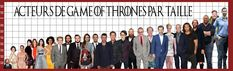 Les principaux acteurs de Game of Thrones classés par taille Gme Of Thrones, Game Of Thrones Bar, Acteurs Game Of Throne, Fandoms, Culture, Dire, Games, House Sigil, House Stark