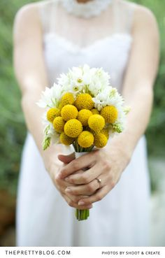 Yellow & white bouquet | Flowers: A Little Thing Called,  Photographers: Shoot & Create