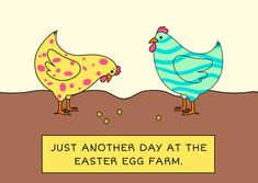 Customize the Easter Egg Farm Funny Chicken Card template and make it match your brand!