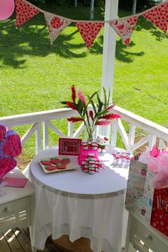 strawberry party decorations