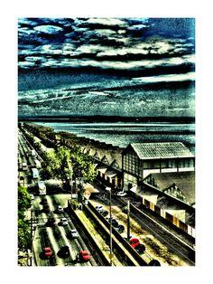 """Cais Mauá"" Poa - RS - Brasil Coleção Port0nírico   Impressão 50x70 com pigmento mineral no papel somerset velvet texturizado 255g Somerset, City Photo, Paintings, Brazil, Paper, Paint, Painting Art, Painting, Painted Canvas"