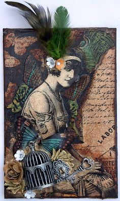 """I Love Vintage, anything old fashion. Papers are from Graphics 45 """"Olde Curiosity Shoppe Collectio. Paper Art, Paper Crafts, Arts And Crafts, Victoria Art, Victoria Lynn, Atc Cards, Collage Art, Collage Ideas, Collages"""