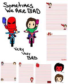 Pee Wee Paper Supa Pewee Kids We Do Bikes Bad B Pop Mason Valentine Cartoon Comic Kodomo Art Chibi Girl Doll Anime Manga Japanimation Japan SD Super