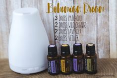 Bohemian Dream Diffuser Blend doTERRA Essential Oils Patchouli, Wild Orange, Lavender, Vetiver -- Sleepy Diffuser Blend, Hippy Blend, Bohemian #PatchouliEssentialOiluses