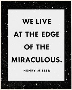 Henry Miller Quote Literary Print We live at the by CapricornPress