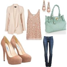 Date night - I like the idea of a sparkly or fun top