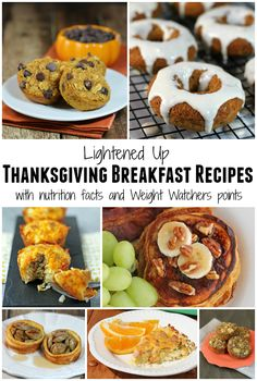 Lightened Up Thanksgiving Breakfast Recipes with nutrition facts and Weight Watchers points! www.emilybites.com