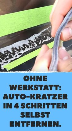 Ohne Werkstatt: Auto-Kratzer in 4 Schritten selbst entfernen. Without a workshop: remove car scratches yourself in 4 steps. Design Autos, T6 California, Power Tool Storage, Gift Cards Money, Bmw Autos, Photo Coasters, Diy Projects To Sell, Photo Search, Audi Tt