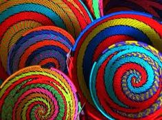 South African Baskets made from recycled telephone wire