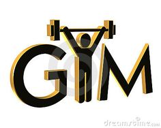 Gym Fitness Logo 3D isolated by Irisangel, via Dreamstime Sports & Outdoors - home gym fitness - http://amzn.to/2khDZjq