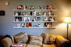 Probably not happening in this house, but maybe someday! Floating Shelves, Photo Wall, Projects, House, Home Decor, Log Projects, Photograph, Blue Prints, Decoration Home