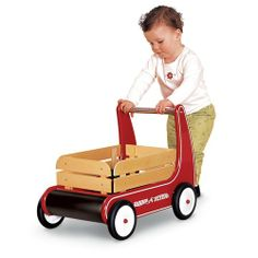 We love our Classic Walker Wagon by Radio Flyer. It doubles as cute storage!