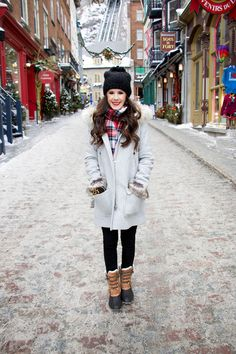 Walking in a Winter Wonderland on the blog today! Quebec City is stunning! www.bypaigemarie.com