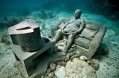 Punta Nizuc, Mexico, piece: Inertia - MUSA Collection. depth 5m.  Underwater Sculpture by Jason deCaires Taylor