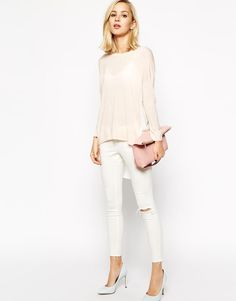 River Island | River Island Woven Back Sweater at ASOS