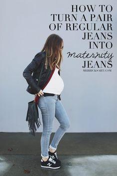 Merrick's Art // Style + Sewing for the Everyday GirlDIY FRIDAY: MAKE YOUR OWN MATERNITY JEANS | Merrick's Art