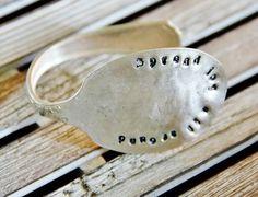 Silver Spoon Bracelet by @Deb Keller Farm