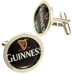 Guinness Cuff Links of Bottle Cap / Sterling by mannmadedesigns, via Etsy.