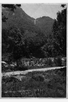 Hickory Nut Falls circa 1920 near Chimney Rock , NC