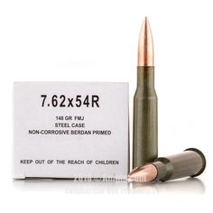 Wolf 7.62x54r Ammo - 500 Rounds of 148 Grain FMJ Ammunition #762x54r #762x54rAmmo #Wolf #WolfAmmo #Wolf762x54r #FMJAmmo
