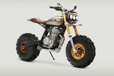 moto Honda XR650L personnalisée