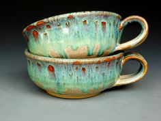 Pair of French Onion Soup Mugs Ceramic Bowls .Etsy.