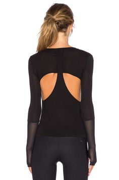 KORAL Chu Fission Long Sleeve Top in Black | REVOLVE