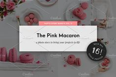Food Stock Photo Pack Pink Macarons by Stories by Scatter Jar on @creativemarket