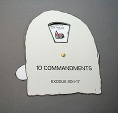 a craft about the 10 commandments with templates.