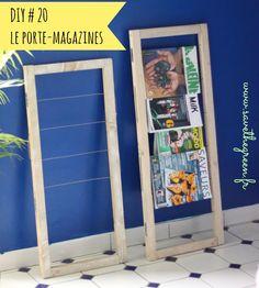 DIY : Le porte-magazines. vous ne savez pas quoi faire de vos magazines ? Vous souhaitez les ranger sans les plier ? Voici un DIY de porte-revues hyper cool