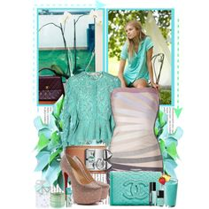 """""""2013 Fall Turquoise Outfit!"""" by http://www.hervebandagedresses.com"""
