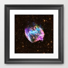 Black Hole Framed Art Print by Planet Prints - $31.00