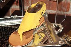 Mustard Suede Sandal